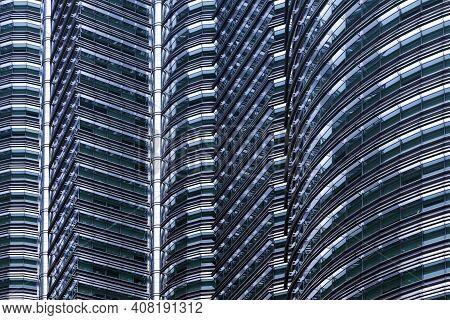 Kuala Lumpur - April 28: View Of The Petronas Twin Towers On April 28,2013 In Kuala Lumpur, Malaysia