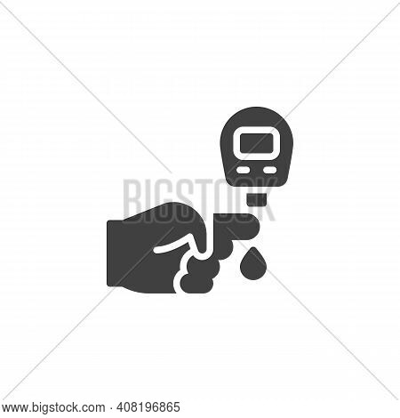 Blood Sugar Test Vector Icon. Filled Flat Sign For Mobile Concept And Web Design. Diabetes Glucose M