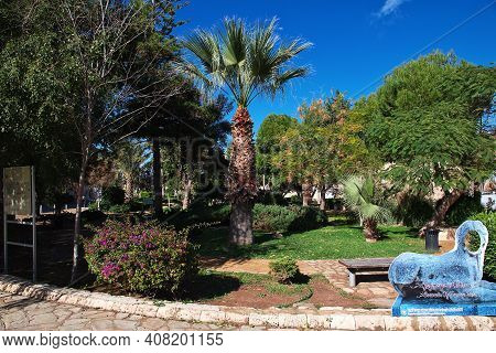Famagusta, Northern Cyprus - 08 Jan 2016: The Park Of Famagusta, Northern Cyprus