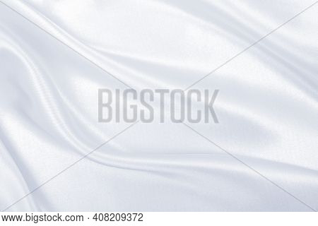 Smooth Elegant Grey Silk Or Satin Luxury Cloth Can Use As Wedding Background. Luxurious Background D