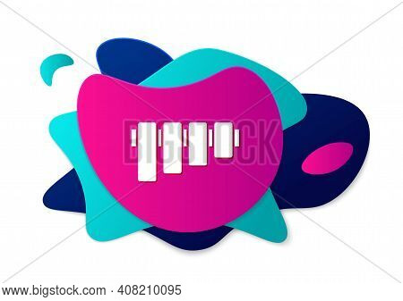 Color Pan Flute Icon Isolated On White Background. Traditional Peruvian Musical Instrument. Folk Ins