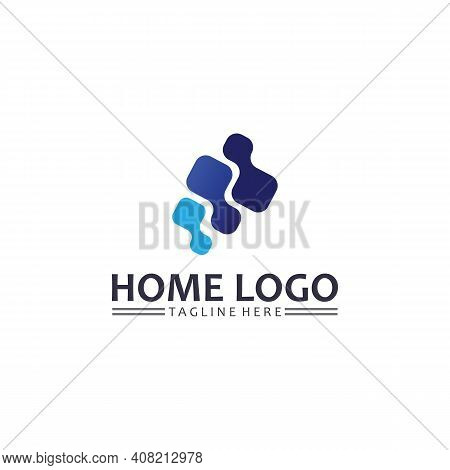 Home And House Logo Design Vetor, Logo , Architecture And Building, Design Property , Stay At Home E