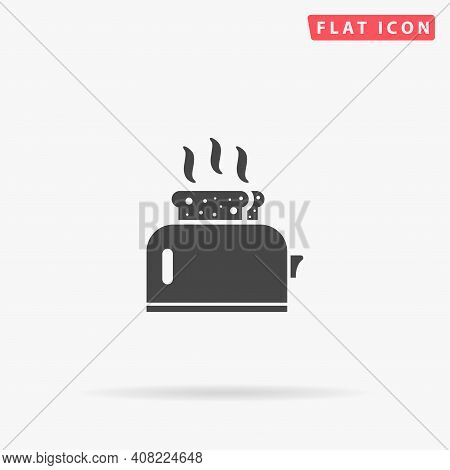 Toaster Flat Vector Icon. Hand Drawn Style Design Illustrations.