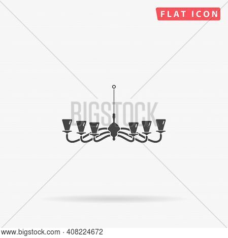 Chandelier Flat Vector Icon. Hand Drawn Style Design Illustrations.