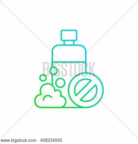 Sls Free Gradient Linear Vector Icon. Harmful Chemical Additives. Natural Cosmetics. Ecology Movemen