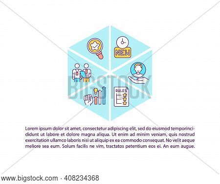 Recruitment Concept Icon With Text. Work Adaptation Strategy. Personnel, Staff Orientation. Ppt Page