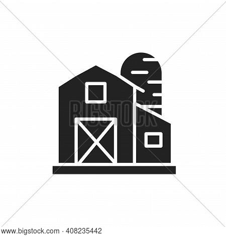Country Barn Color Line Icon. Isolated Vector Element.