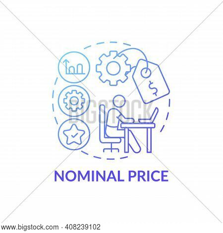 Nominal Price Concept Icon. Online Language Courses Idea Thin Line Illustration. Remote Learning For
