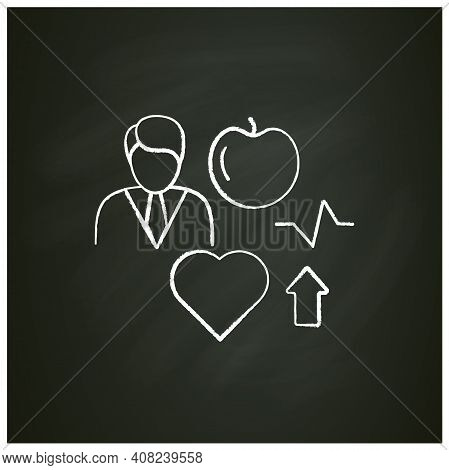 Lifestyle Enhancing Chalk Icon. Personal Growth Concept. Self Improvement And Self Realization. Way