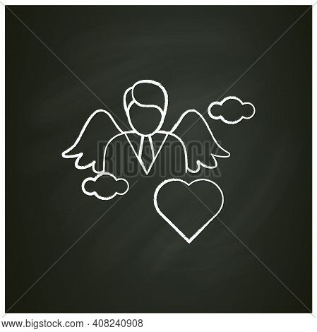 Spiritual Identity Chalk Icon. Personal Growth Concept. Self Identity. Meaning And Ultimate Existenc