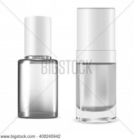 Nail Polish Bottle. Manicure Enamel Pack, Vector Illustration Isolated On White Background. Varnish