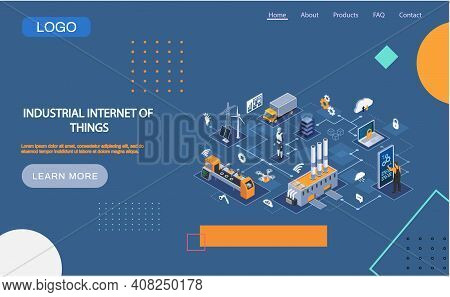 Industrial Internet Of Things 4ir Revolution, Ai, Iot. Computerized Data Storage And Protection Mana