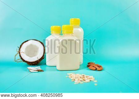 Various Vegan Plant Based Milk And Ingredients, Non-dairy Milk
