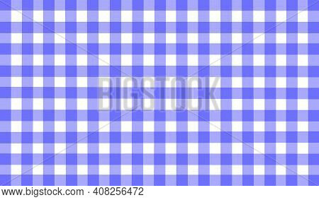 Blue White Purple Vintage Checkered Background. Space For Graphic Design. Checkered Texture. Classic