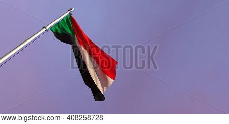 3d Rendering Of The National Flag Of The Sudan