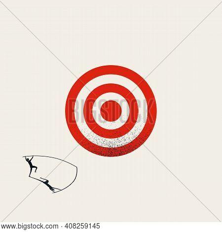 Business Target, Vector Concept. Symbol Of Hitting Objective, Achievement, Success.