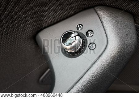 Luxury Car Interior Knob And Buttons Joystick For Exterior Electric Mirrors Control On Driver Door A
