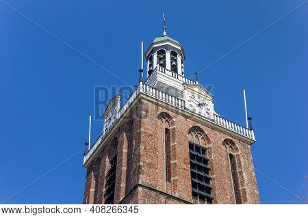 Clocks At The Tower Od The Maria Church In Meppel, Netherlands