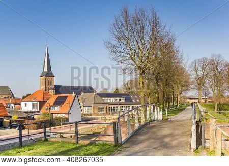 Rampart Around The Historic Center Of Steenwijk, Netherlands