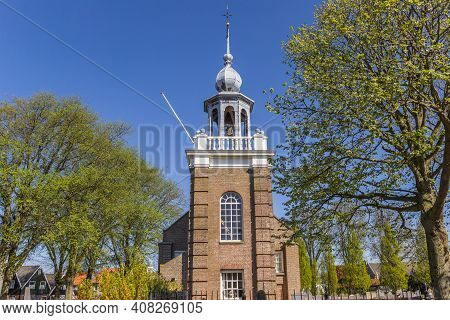 Historic Church At The Sea In Urk, Netherlands