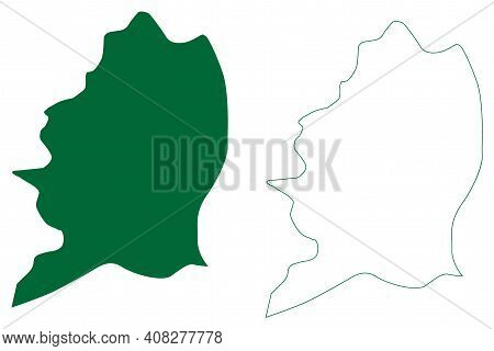 East Siang District (arunachal Pradesh State, Republic Of India) Map Vector Illustration, Scribble S