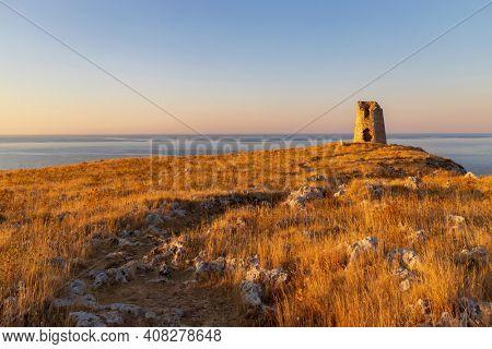 Landscape near Torre Sant Emiliano, Otranto, Salento coast, Apulia region, Italy