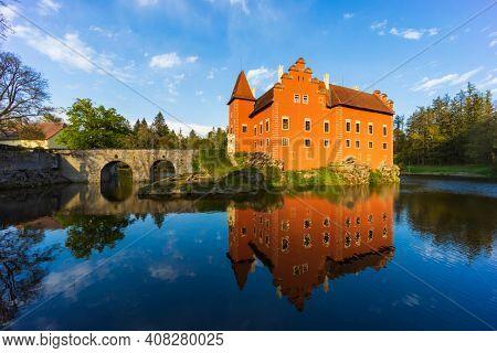 Cervena Lhota castle in Southern Bohemia, Czech Republic