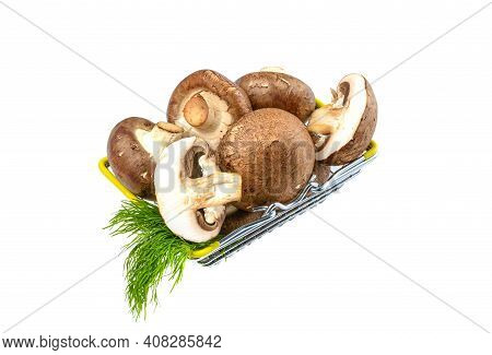 Mushrooms.royal Mushroom Champignons In A Shopping Mushrooms.royal Mushroom Champignons In A Shoppin