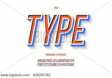 Vector Bold Font 3d Colorful Style. Modern Typeface Trend Typography. Cool Alphabet For Party Poster