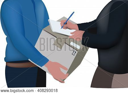 Delivery Boy With Signature Received Delivery Boy With Signature Received