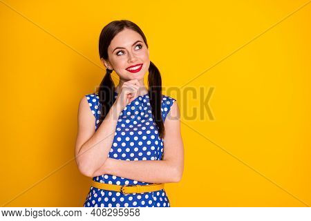 Portrait Of Her She Nice Attractive Lovely Pretty Creative Glamorous Cheerful Cheery Brown-haired Gi