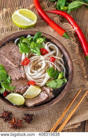 Bowl Of Vietnamese Pho Bo
