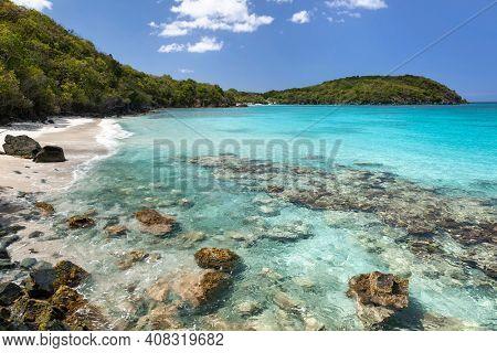 Little Hawksnest Bay on the Island of St. John in the U.S. Virgin Islands.
