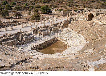 Odeion of Ephesus in Ephesus Ancient City, Selcuk, Turkey