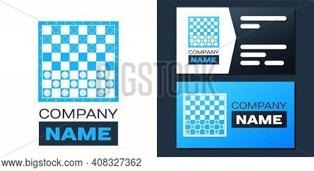 Logotype Board Game Of Checkers Icon Isolated On White Background. Ancient Intellectual Board Game.