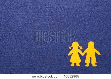 Boy and Girl Silhouette Card