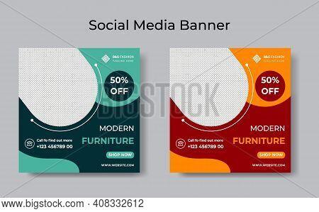 Furniture Sale Promotion Social Media Banner Template.editable Post Template Social Media Banners Fo