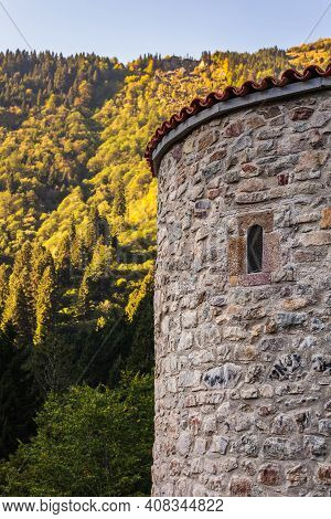 Carved Mountain Church Of The Orthodox Faith Is Sumela Monastery In Trabzon, Turkey.
