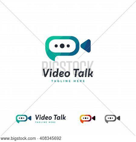 Video Talk Logo Designs Template, Video Chat Logo Designs