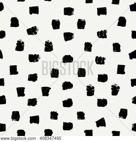 Brush Stroke Seamless Pattern. Repeated Dash Line Motif. Modern Minimal Geometric Surface. Freehand