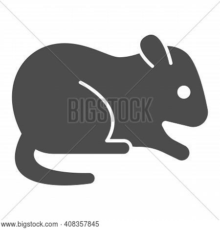 Hamster Solid Icon, Domestic Animals Concept, Rodent Sign On White Background, Hamster Silhouette Ic