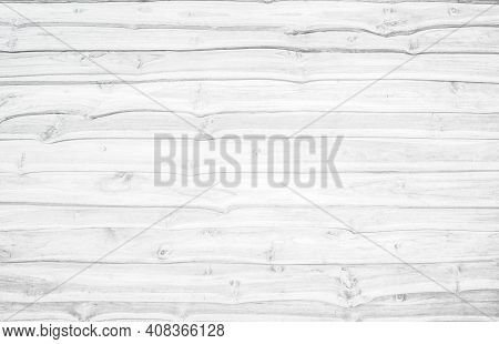 Wood Plank White Texture Background. Wooden Wall Antique Cracking Furniture Painted Horizontal Peeli
