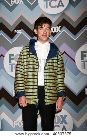 LOS ANGELES - JAN 8:  Kevin McHale attends the FOX TV 2013 TCA Winter Press Tour at Langham Huntington Hotel on January 8, 2013 in Pasadena, CA