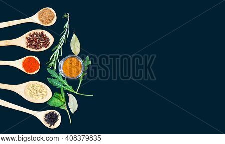 Healthy living concept with homeopathic herbs.