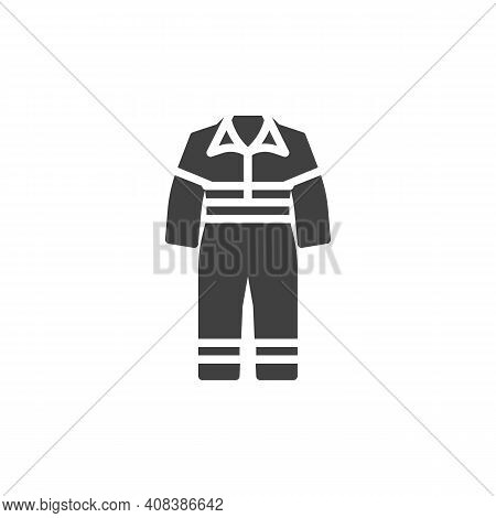 Work Overalls Vector Icon. Filled Flat Sign For Mobile Concept And Web Design. Safety Coverall Glyph