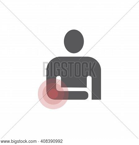 Pain In Elbow Icon, Vector Sign For Web Graphic