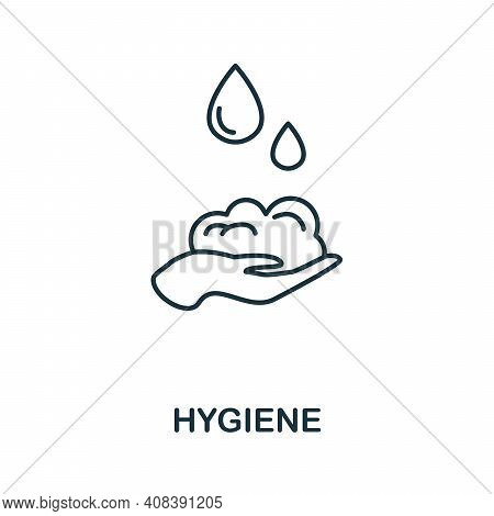 Hygiene Icon. Monochrome Simple Hygiene Icon For Templates, Web Design And Infographics