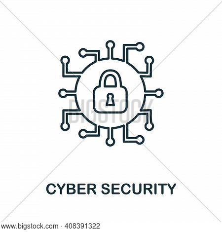 Cyber Security Icon. Simple Element From Internet Security Collection. Creative Cyber Security Icon