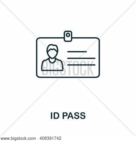 Id Pass Icon. Simple Element From Internet Security Collection. Creative Id Pass Icon For Web Design