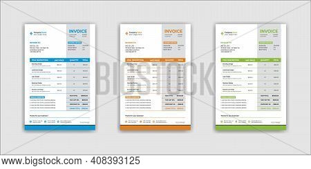 Creative Business Invoice Design Vector Template For Your Business